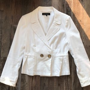 Nanette Lepore White Pique Jacket - Size 10